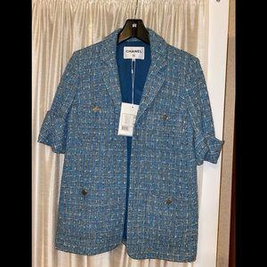 Chanel FANTASY tweed short sleeves blazer jacket